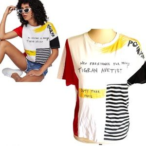 Shein Pour Me Graphic Colorblock Tee